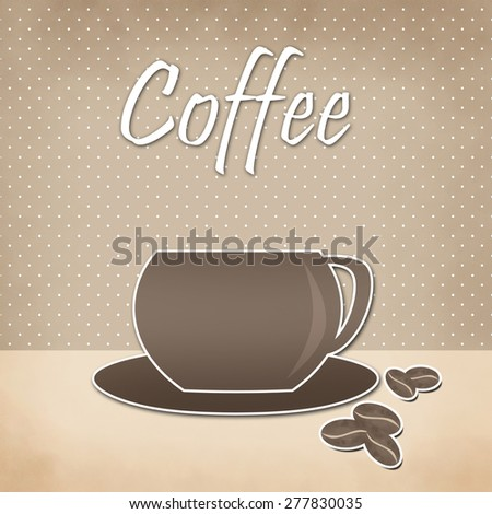 Menu for restaurant, cafe, bar, coffee house on retro background - stock photo