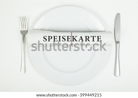 Menu (in german)