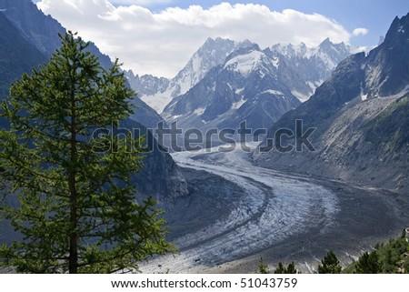 Mer de glace - Mont Blanc - Chamonix - stock photo