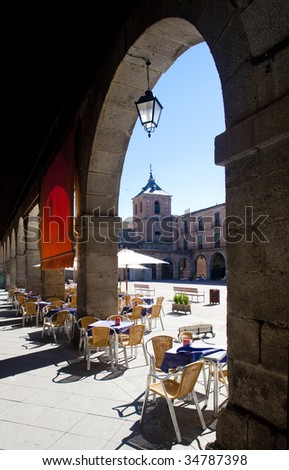 Mercado Chico Square, Avila, Castile and Leon, Spain - stock photo