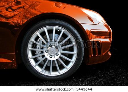 Mercedes SLK 55 Racer - stock photo