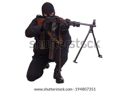 mercenary with RPD 44 machine gun
