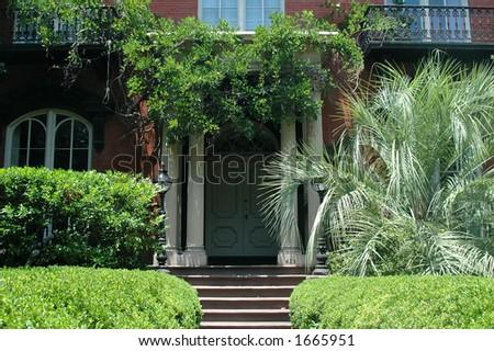 Mercer house entranceway - stock photo