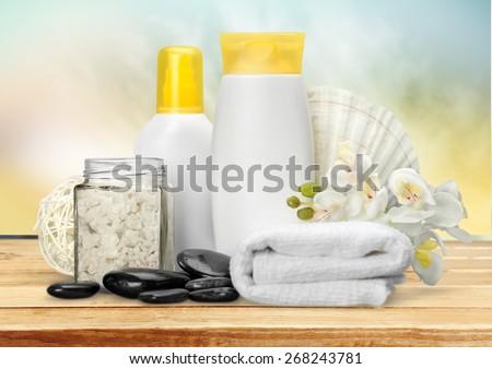Merchandise, Spa Treatment, Health Spa. - stock photo