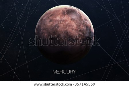 Mercury - High resolution images presents planets of the solar system. This image elements furnished by NASA. - stock photo