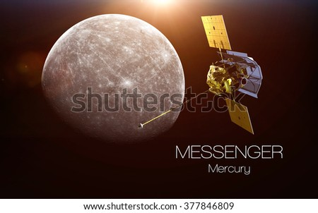 Mercury - Messenger spacecraft. This image elements furnished by NASA. - stock photo