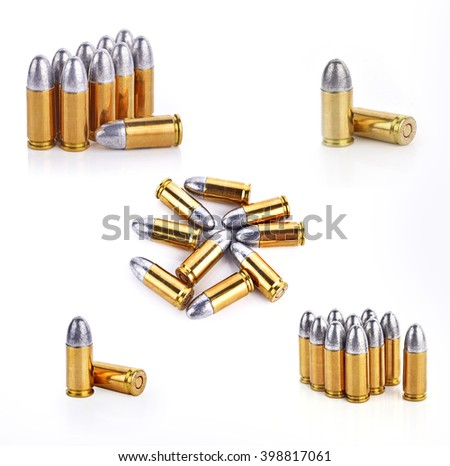 Merger bullets on white background