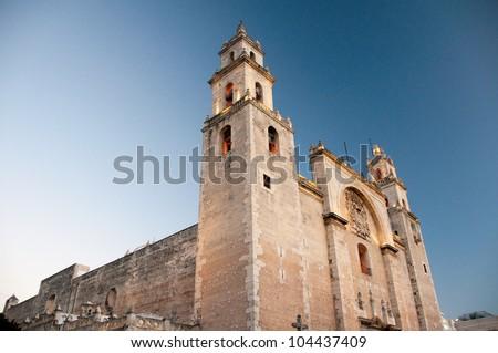 Merida cathedral, Yucatan  (Mexico) - stock photo
