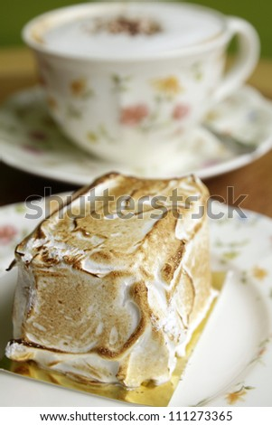 Meringue Cake - stock photo