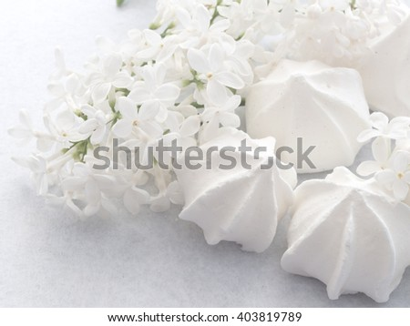 meringue cookies  - stock photo