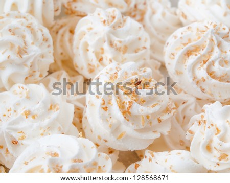 Meringues - stock photo