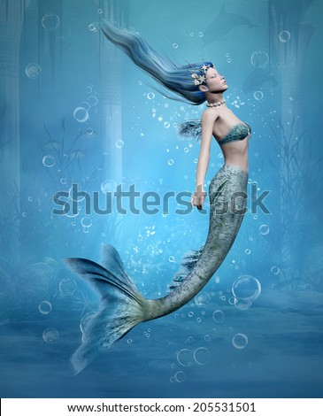 Mermaid - stock photo