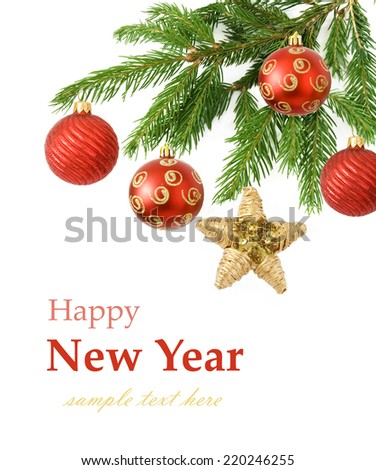 Merry Christmas and Happy New Year - stock photo