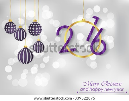Merry Christmas and Happy new year background. - stock photo