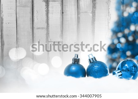 Merry Christmas and happy new year decoration. - stock photo