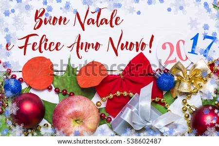 Merry christmas and happy new year in italian christmas cards merry christmas and happy new year in italian language 2018 card holiday frame from apples m4hsunfo