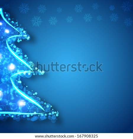 Merry christmas and heppy new year background light concept - stock photo