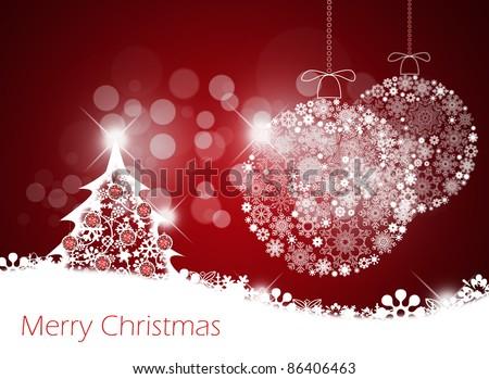 Merry christmas background. - stock photo