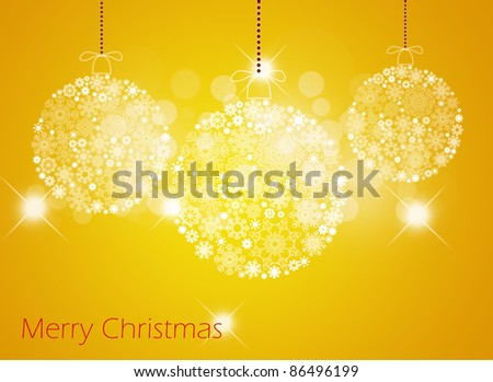 Merry christmas background. - stock photo