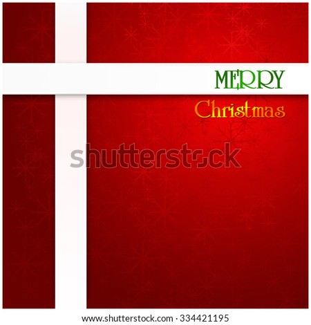Merry Christmas background, holiday season concept - stock photo