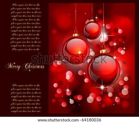 Merry Christmas Elegant Suggestive Background for Greetings Card - stock photo