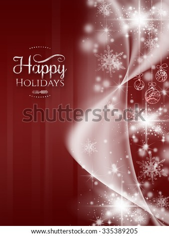 Merry Christmas greeting card,with red Background
