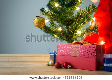 Merry Christmas. happy new year event on wood