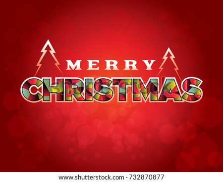 Merry Christmas Holiday Greeting Message Written Stock Illustration