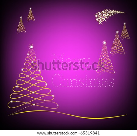 Merry Christmas in purple