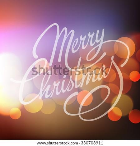 Merry Christmas Lettering Design.  - stock photo
