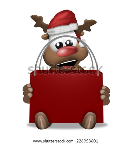 Merry Christmas red graphic design - stock photo