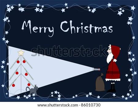 Merry Christmas - santa is coming - stock photo