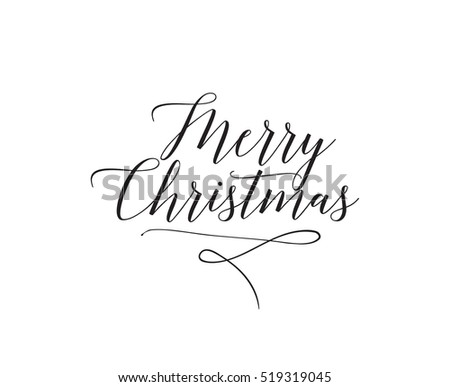 Merry Christmas text design. logo, typography. Usable as banner, greeting card, gift package etc.