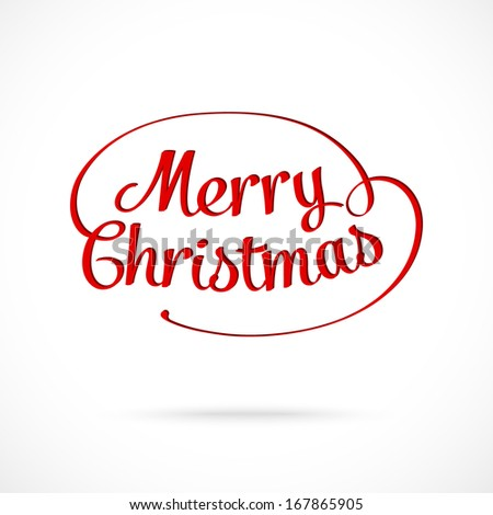 Merry Christmas typographic greeting card -  Illustration - stock photo