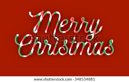 Merry Christmas wording on red background - stock photo