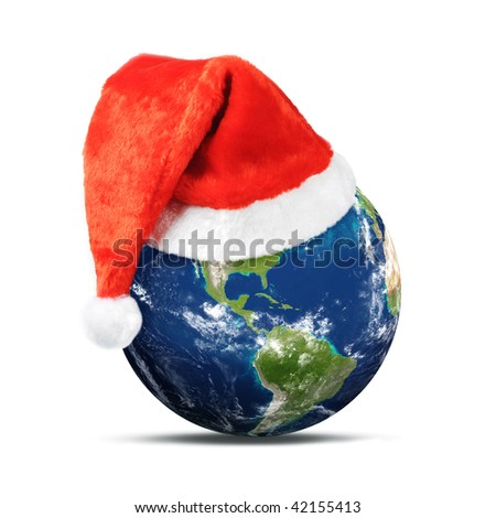 Merry Christmas World - stock photo