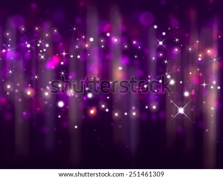 merry festive background with stars - stock photo