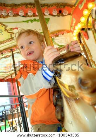 merry-go-around - stock photo