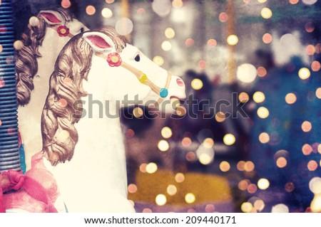 Merry-go-round - stock photo