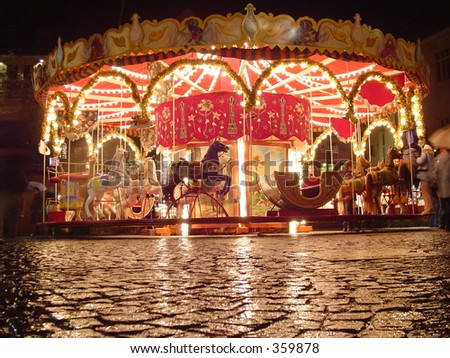 Merry-go-round - stock photo