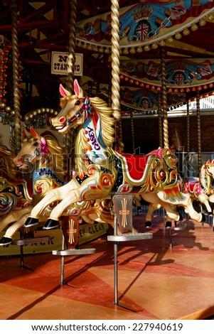 Merry-go-round in London, UK - stock photo