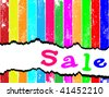 Merry sales template. Tag sale on a multicolored plank. Vector version this image ID: 40840981 - stock photo