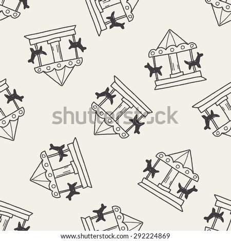 Merry to go doodle seamless pattern background - stock photo