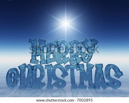 merry xmas! - stock photo