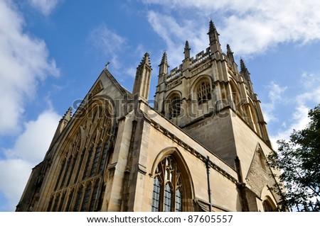 Merton College Chapel, Oxford University - stock photo