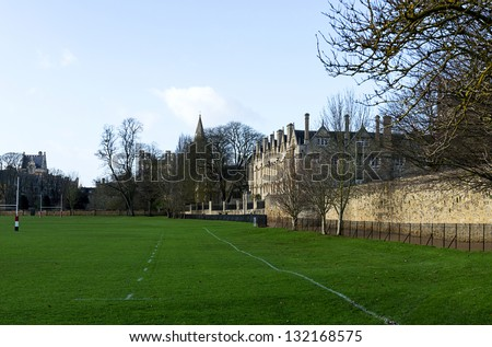 merton college Oxford - stock photo