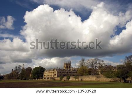 Merton College, Oxford, UK - stock photo