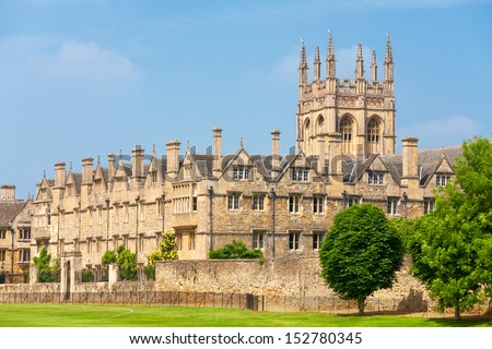 Merton College. Oxford University, Oxford, Oxfordshire, England - stock photo
