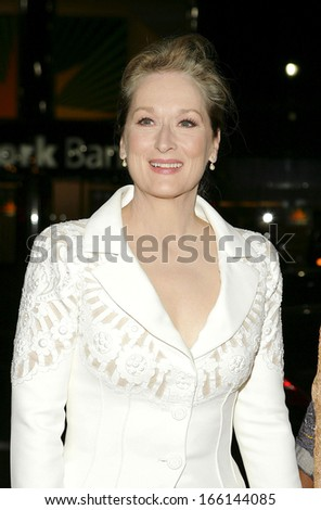 Meryl Streep, at The Fashion Group International's Night of Stars, Cipriani Restaurant 42nd Street, New York, NY, October 27, 2005
