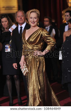 Meryl Streep at the 84th Annual Academy Awards at the Hollywood & Highland Theatre, Hollywood. February 26, 2012  Los Angeles, CA Picture: Paul Smith / Featureflash